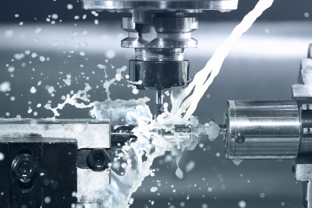 Close-up-of-CNC-machine-at-work