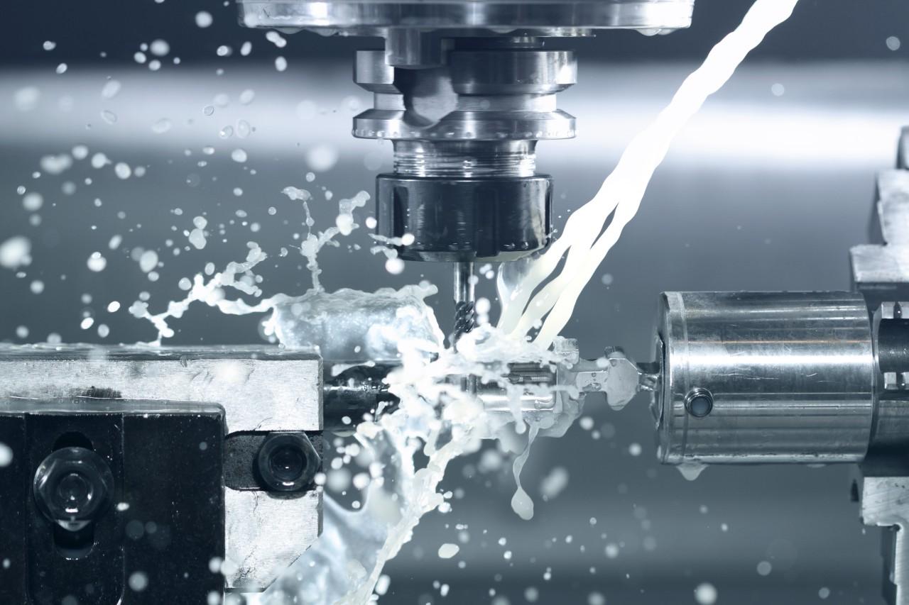 Close-up-of-CNC-machine-at-work